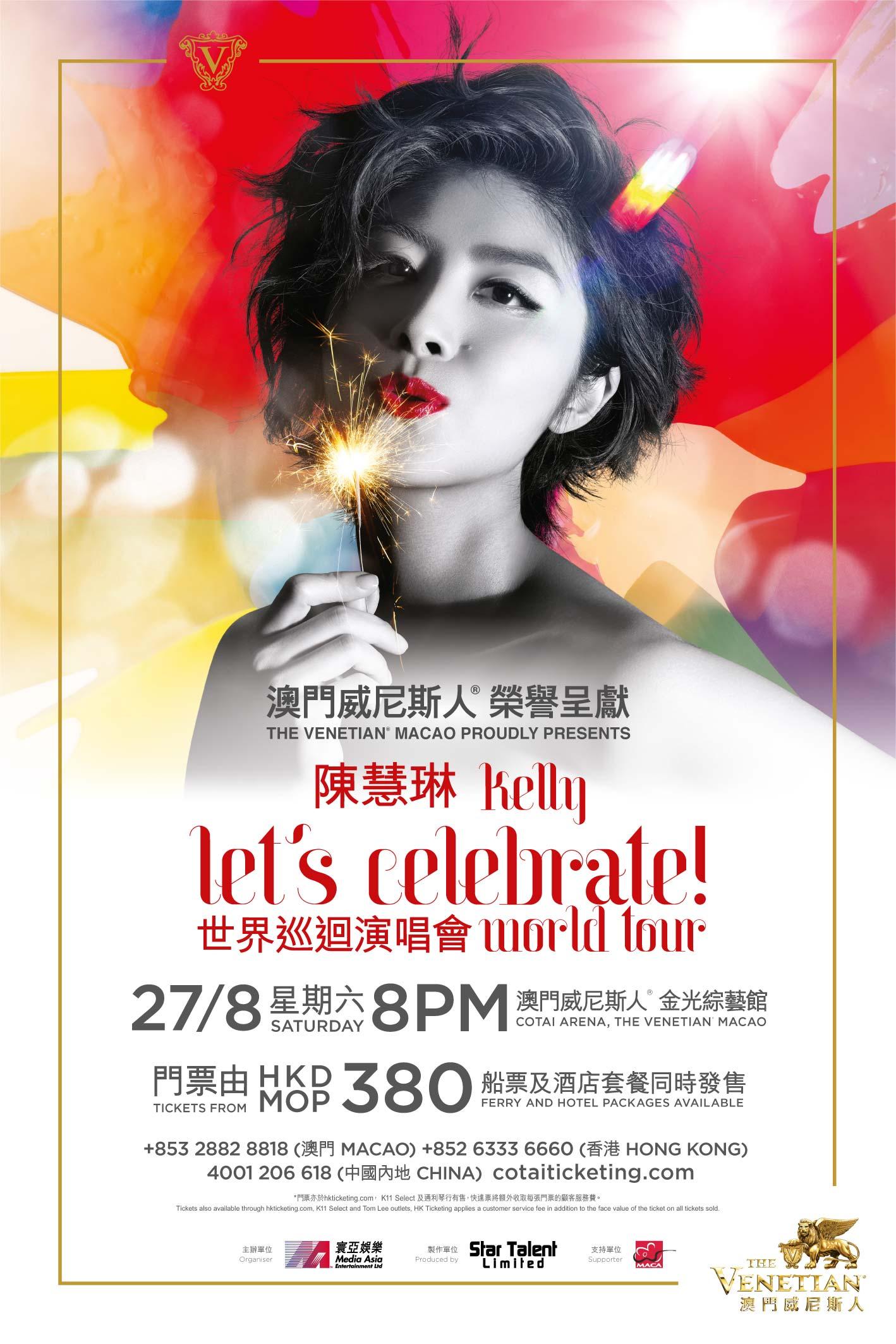 Kelly let's celebrate ! world tour
