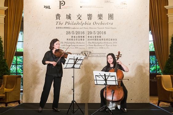 中提琴家 Anna Marie Ahn Petersen及大提琴首席倪海葉
