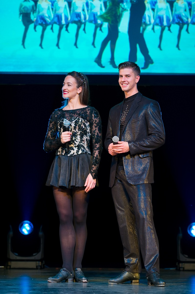 Riverdance dancers Lauren Smyth and William Bryant