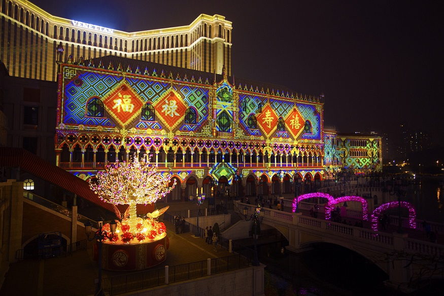 Venetian CNY 3D Mapping Show