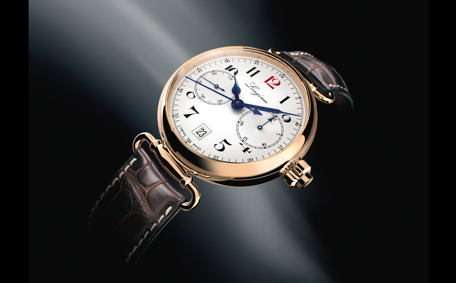 The Longines Column-Wheel Single Push-Piece Chronograph