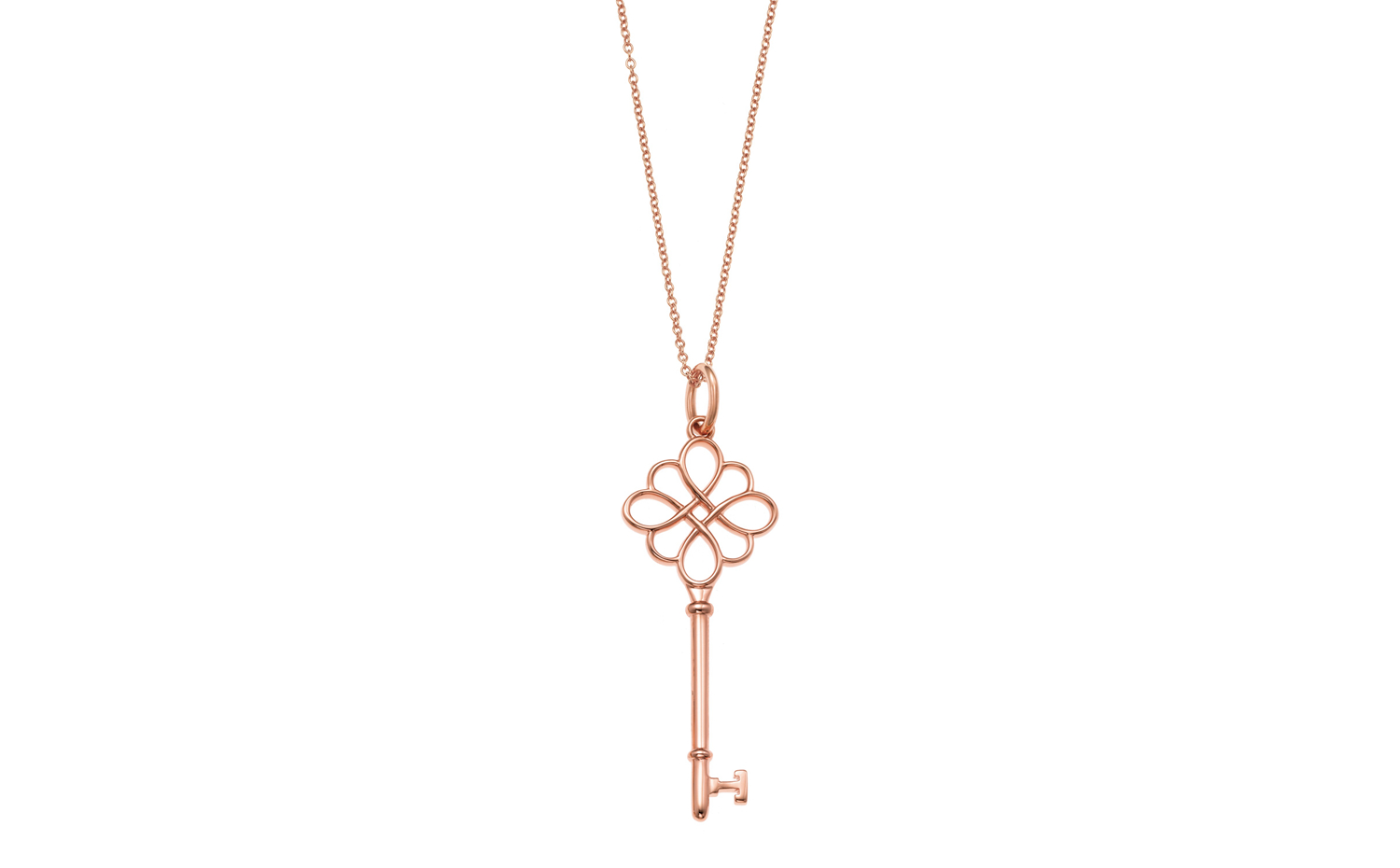 Tiffany Keys Knot Key Pendant in Rose Gold