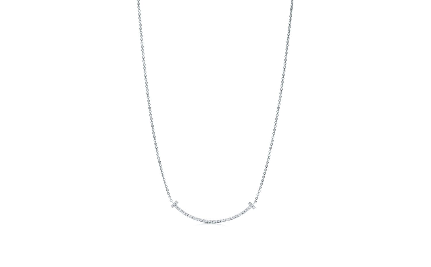 Tiffany T Smile Pendant in 18K White Gold - Mini