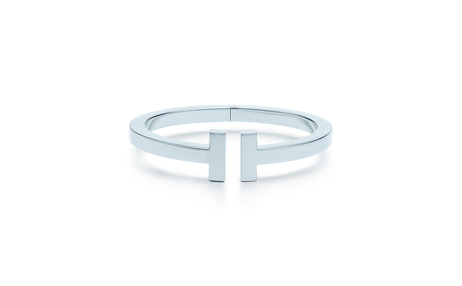 Tiffany T Square Bracelet in 18K White Gold