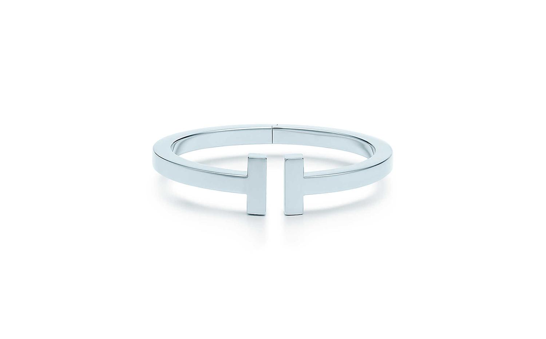Tiffany T系列18K白金方形手鐲