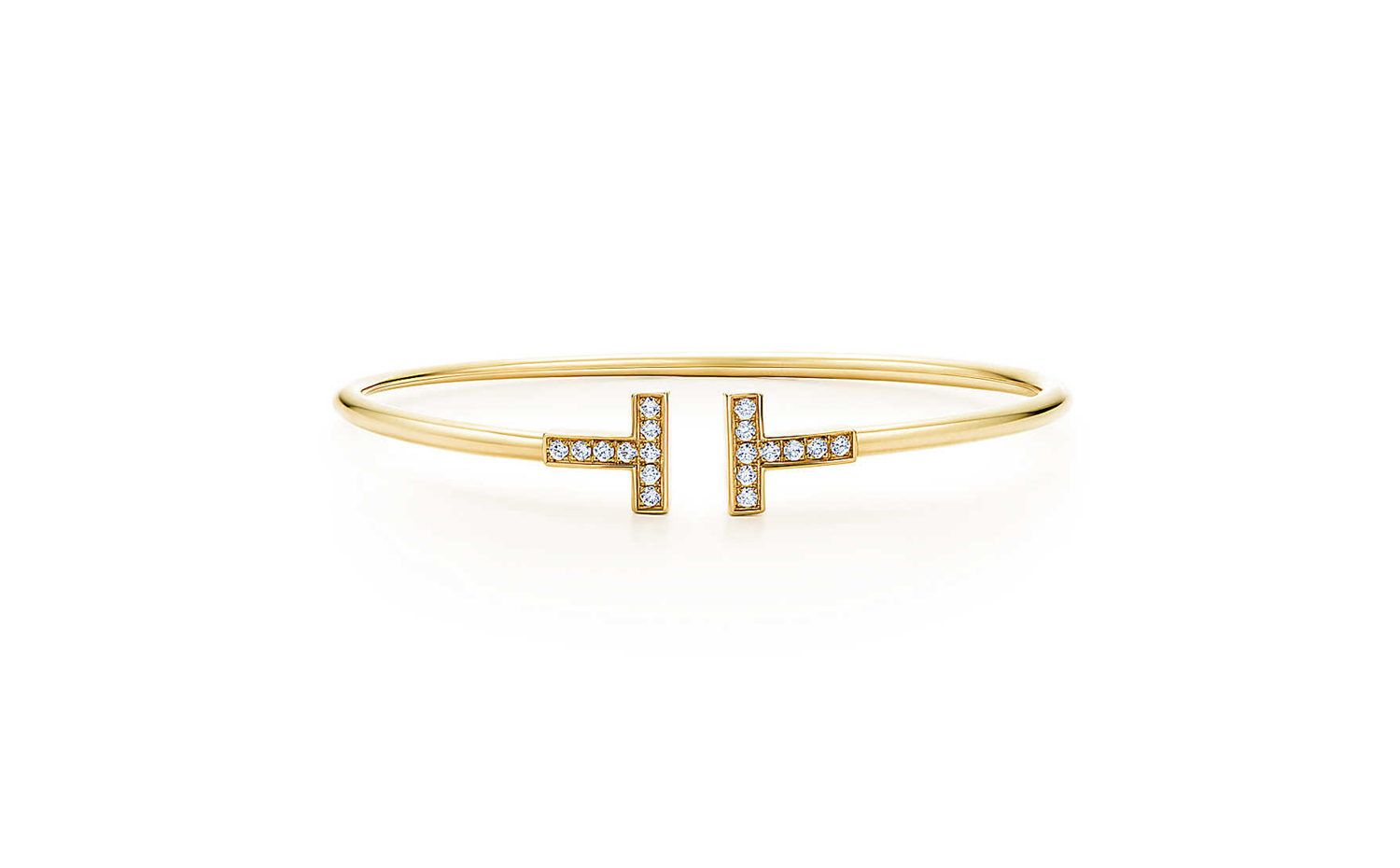 Tiffany T Wire Bracelet in 18K Gold