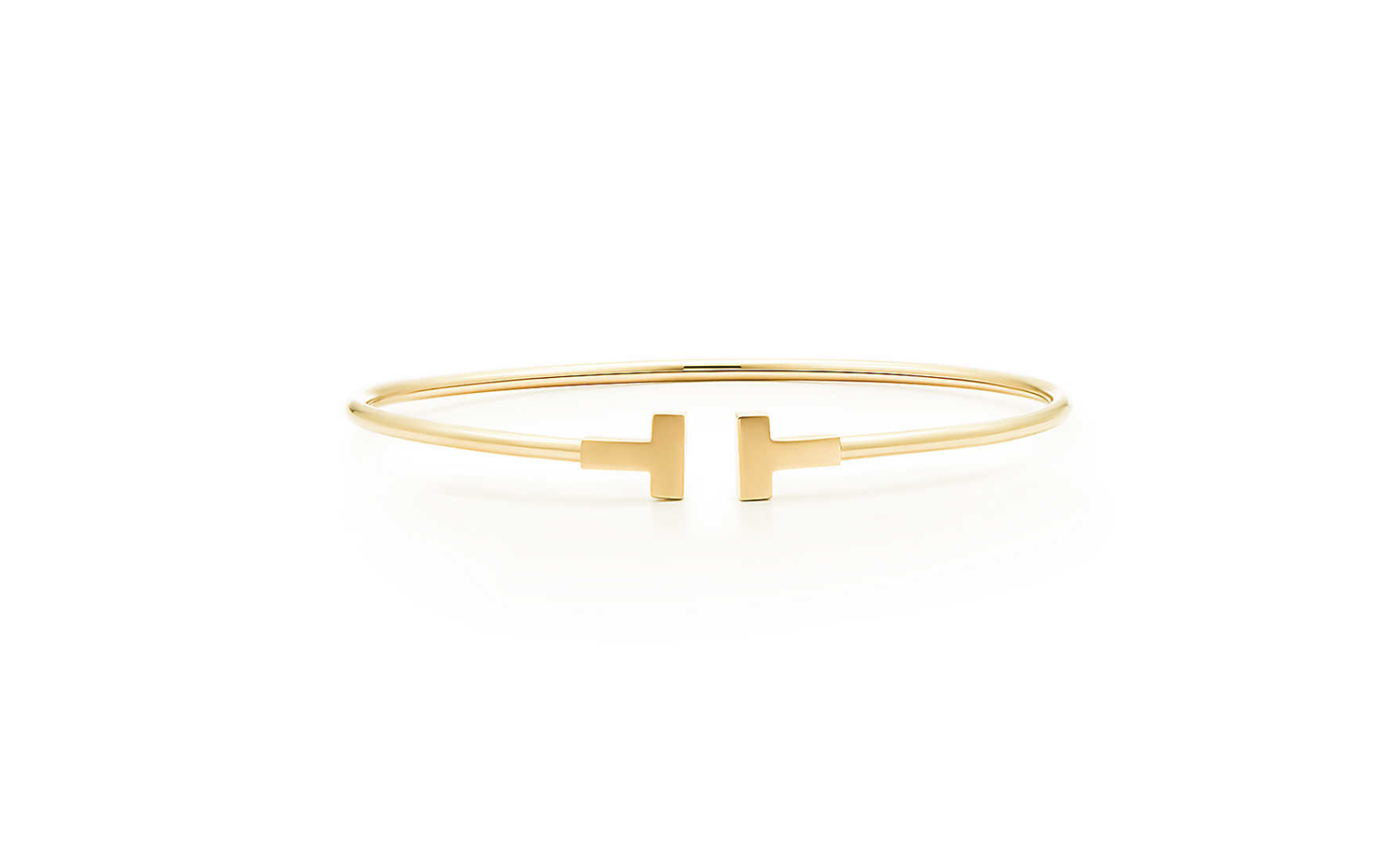 Tiffany T Narrow Wire Bracelet in 18K Gold
