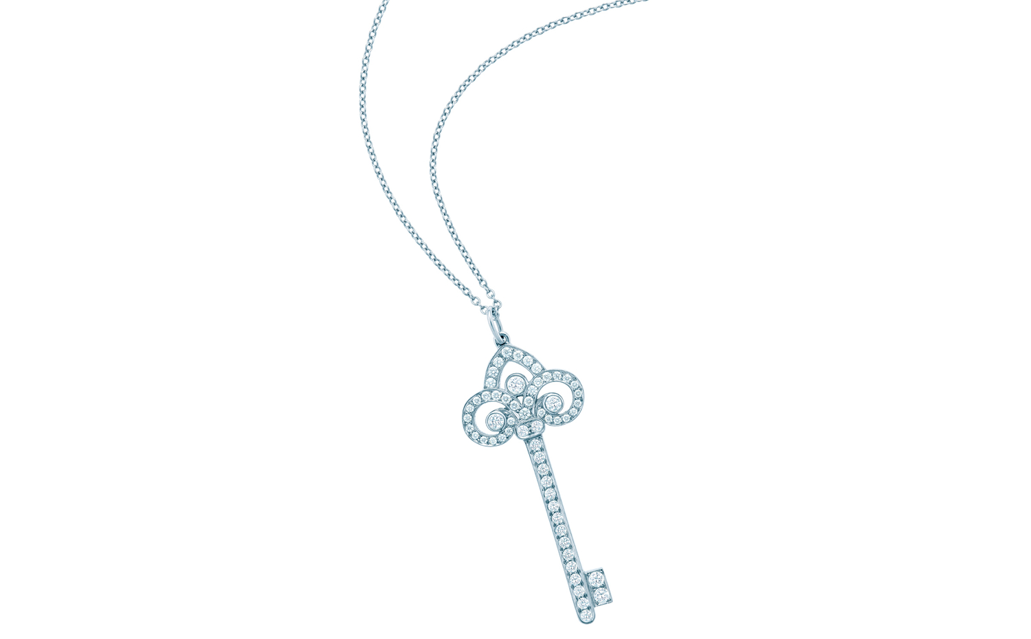 a2e5003ab Tiffany Keys Fleur De Lis Key Pendant in Platinum