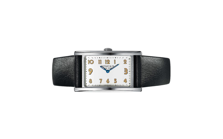 Tiffany East West 迷你2指針 錶殼37x22mm 手錶