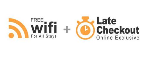 Free Wifi Late Chekout