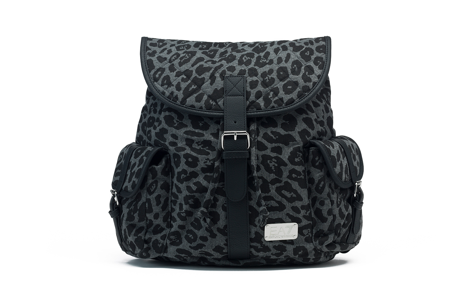EA7 GYM LUX animal printed backpack black
