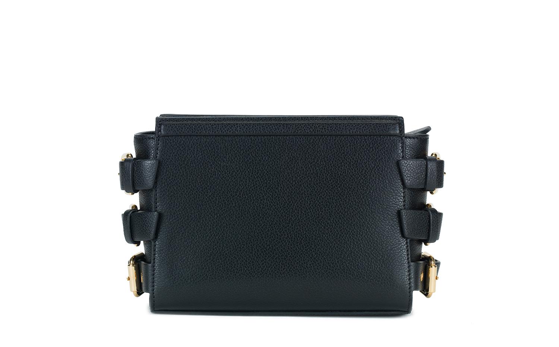 Giuseppe Zanotti Design Black calf leather Mini G#17 handbag 朱塞佩·萨诺第 贊洛緹 黑色小牛皮迷你G#17手袋