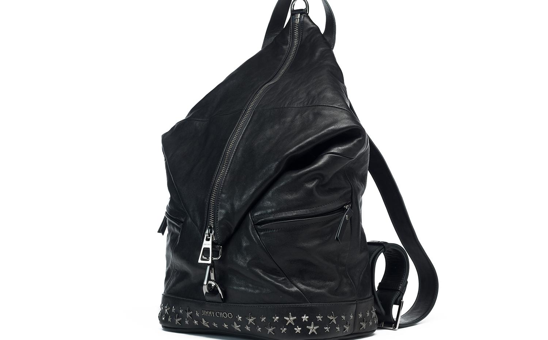 Jimmy Choo FITZROY 背包 - 黑色