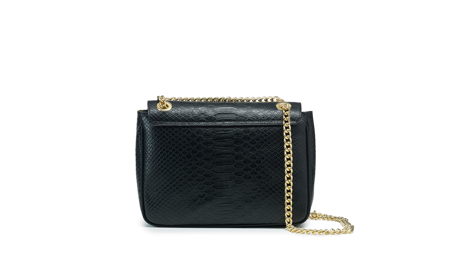 Just Cavalli PYTHON Shoulder Bag - Black