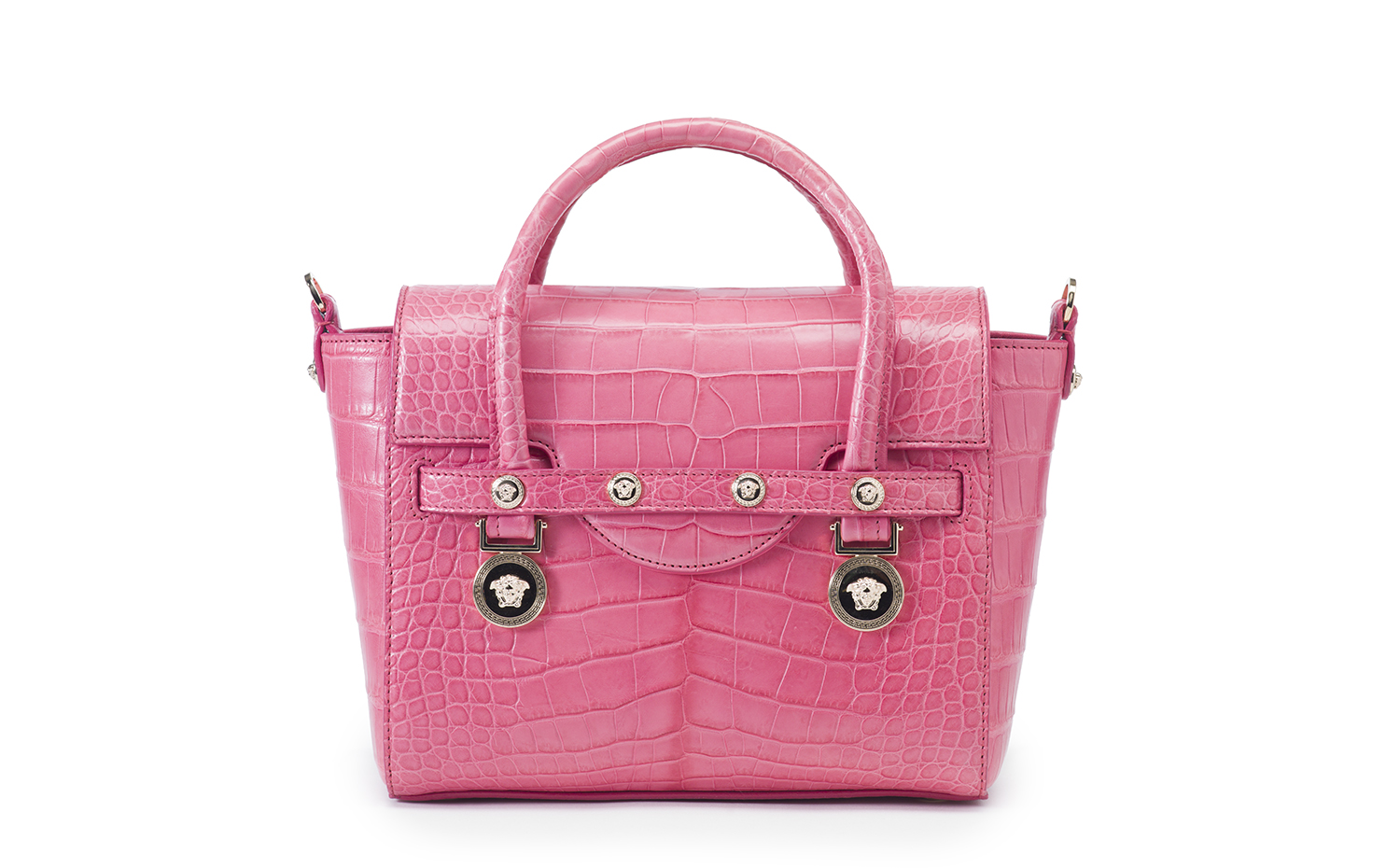 VERSACE Signature Small Top Handle - Pink