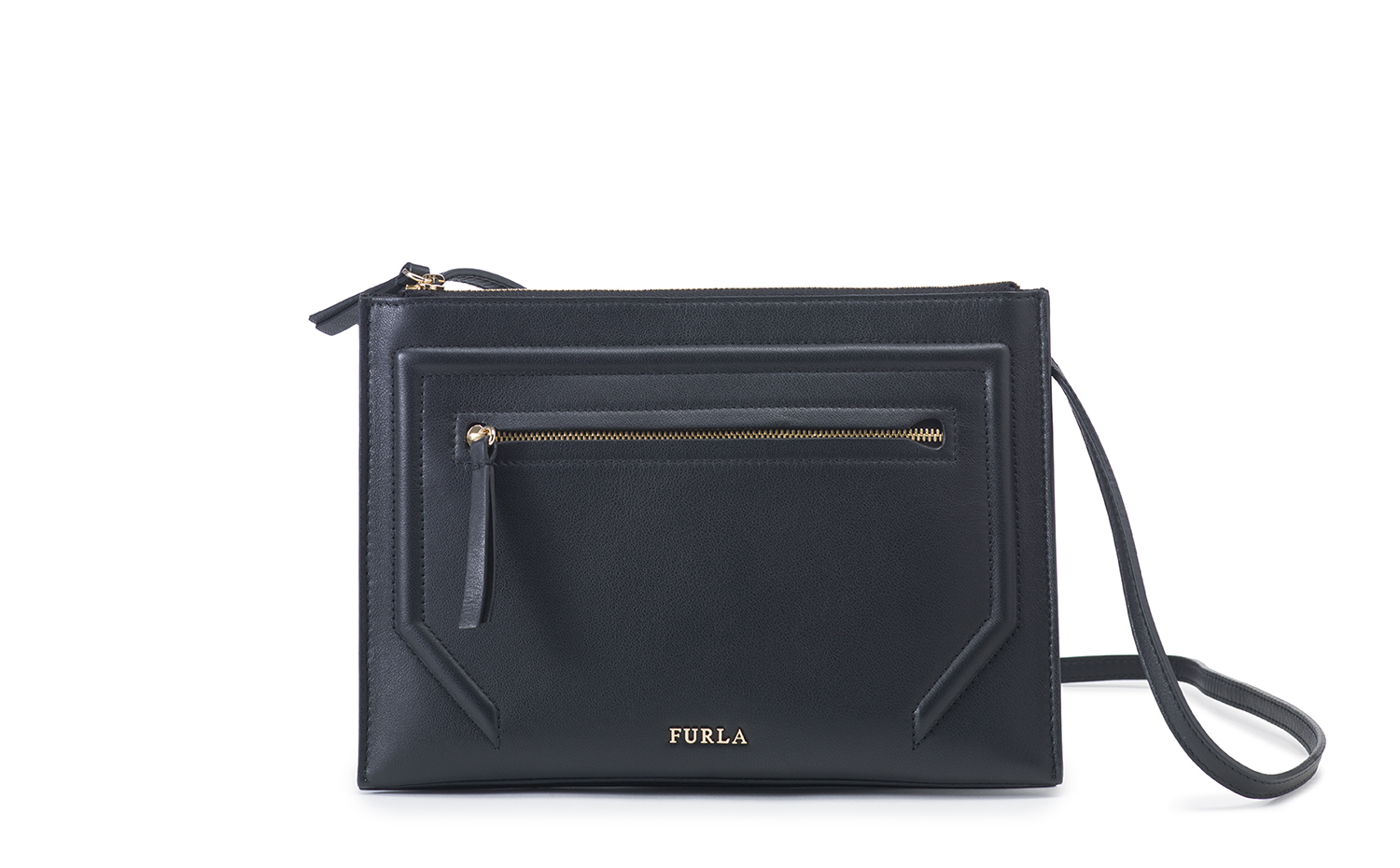 FURLA ALICE leather crossbody bag Onyx