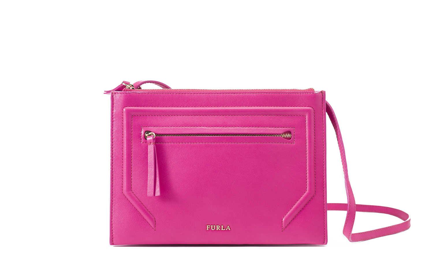 FURLA ALICE leather crossbody bag Pink