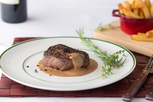 Braised French beef with potato and white wine from Saumur