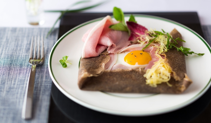 Galette with French Kerisac cider promotion