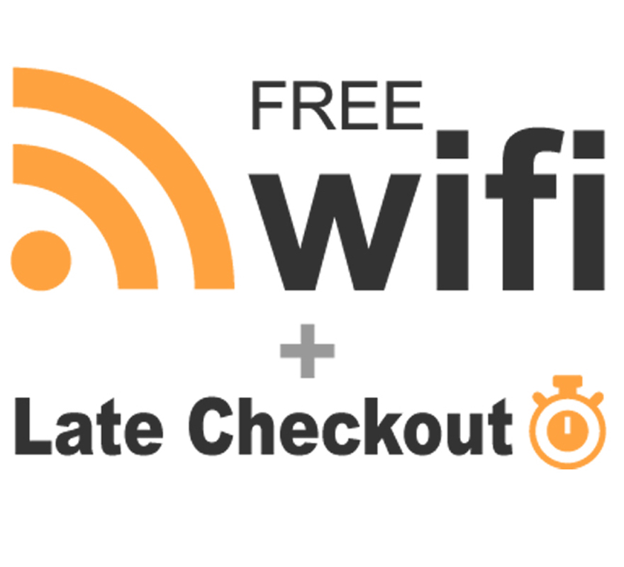 Free Wi-Fi & Late Check-out