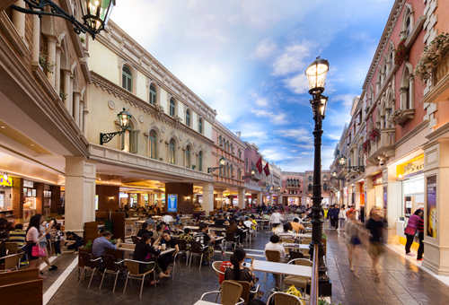 food court in venetian