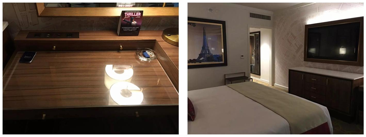 澳门巴黎人酒店客房写字台