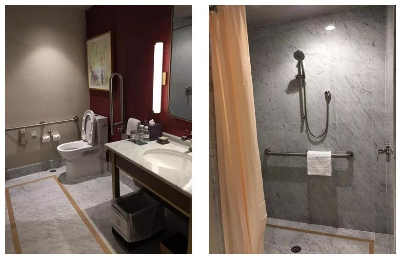 澳门巴黎人酒店客房浴室