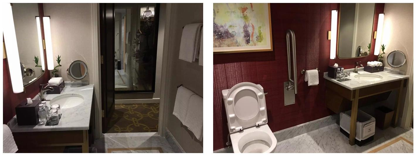 澳門巴黎人酒店客房浴室