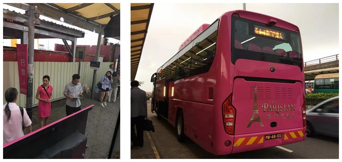 澳門巴黎人酒店穿梭巴士車身