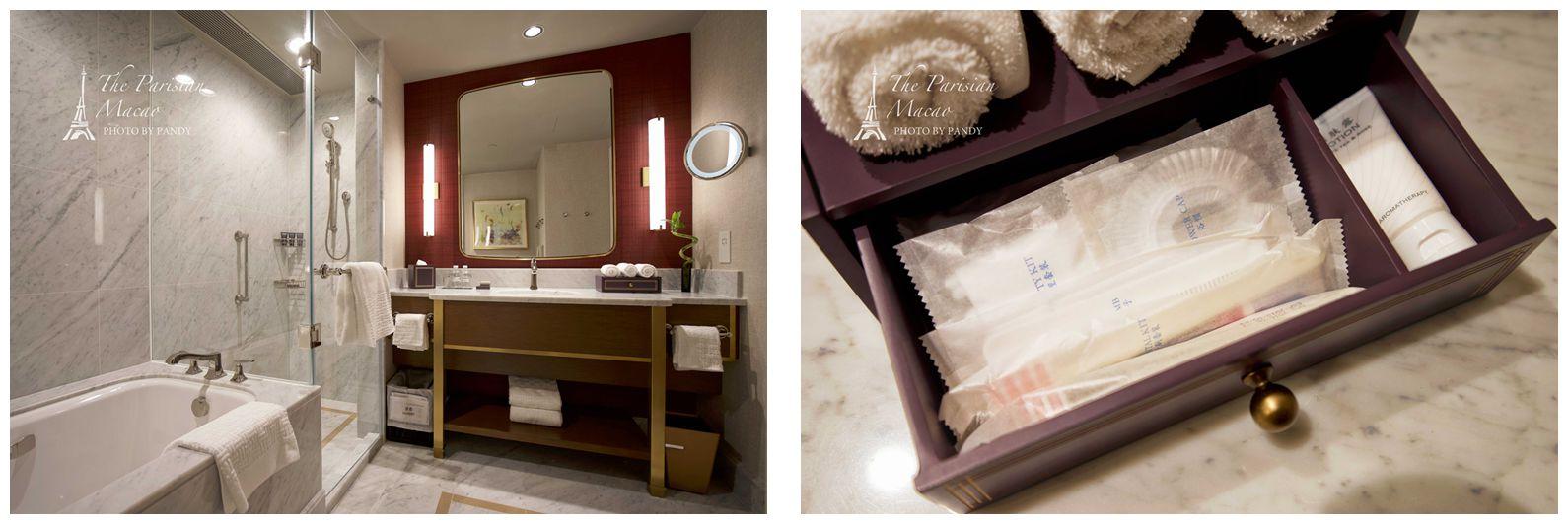 澳门巴黎人酒店房间-浴室