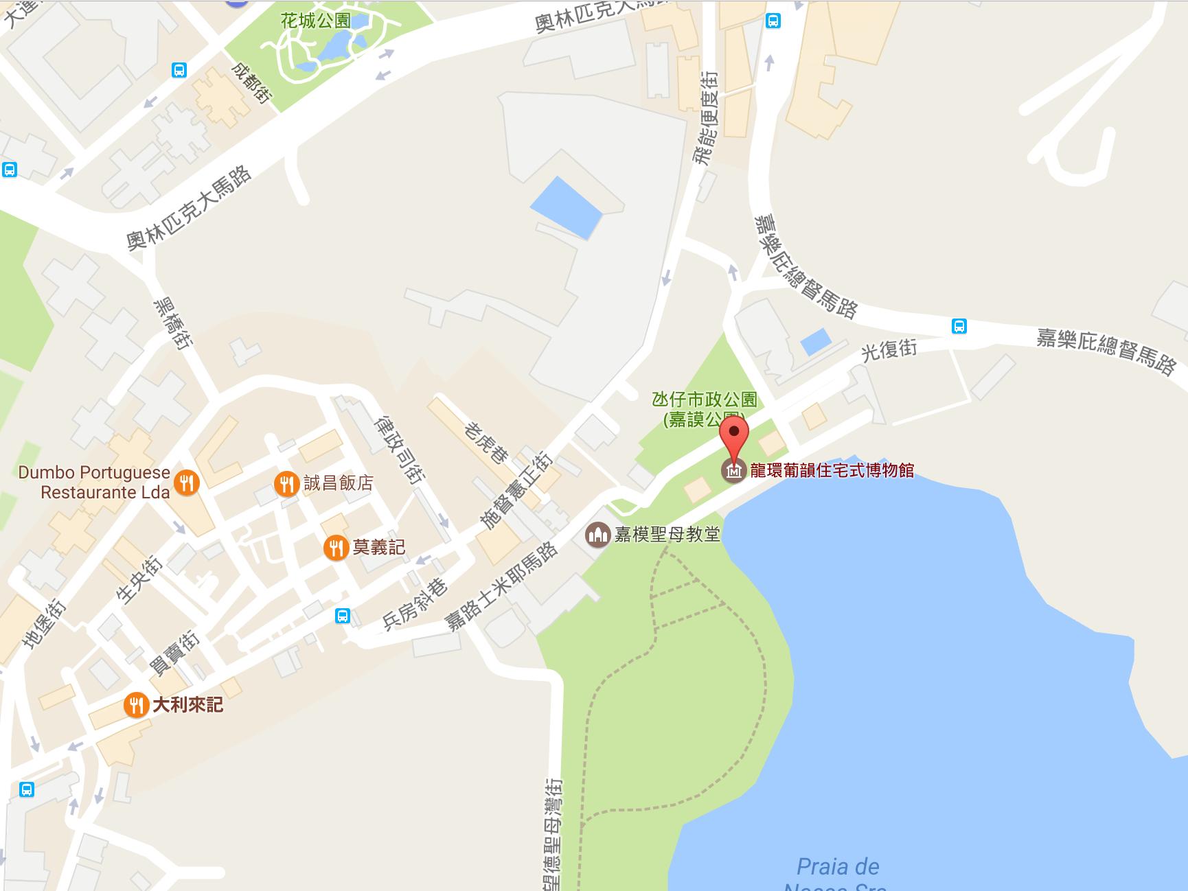 澳门龙环葡韵地图