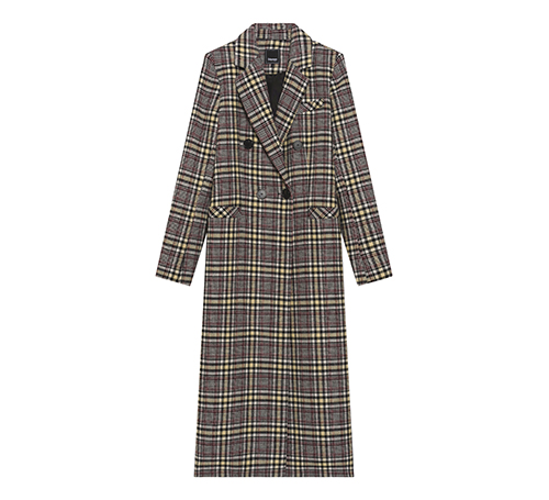 Tartan Pattern Long Coat