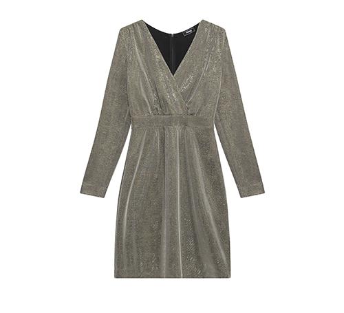金属布连身裙