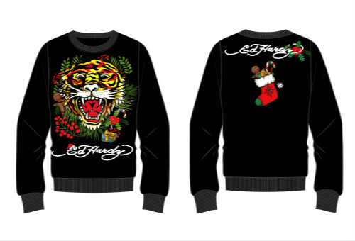 2eedbb0a7f7 ED HARDY launches a special edition of family matching outfits. With  classic tiger and traditional Christmas elements, wish you have a merry  Christmas with ...