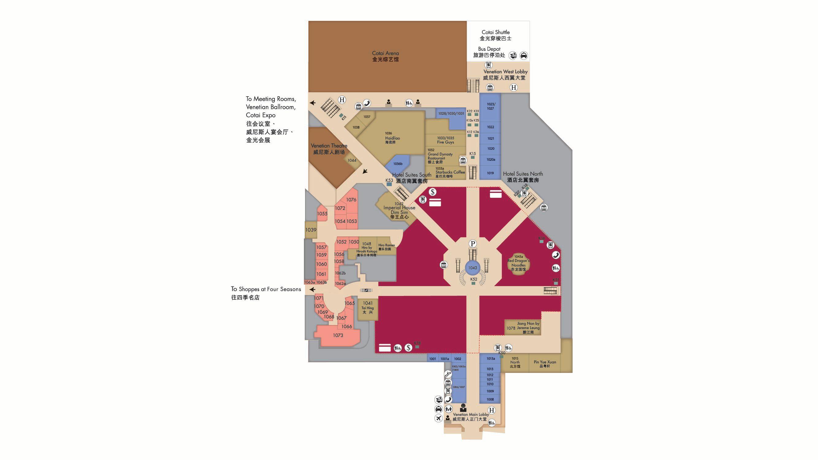 shoppes at venetian floormap