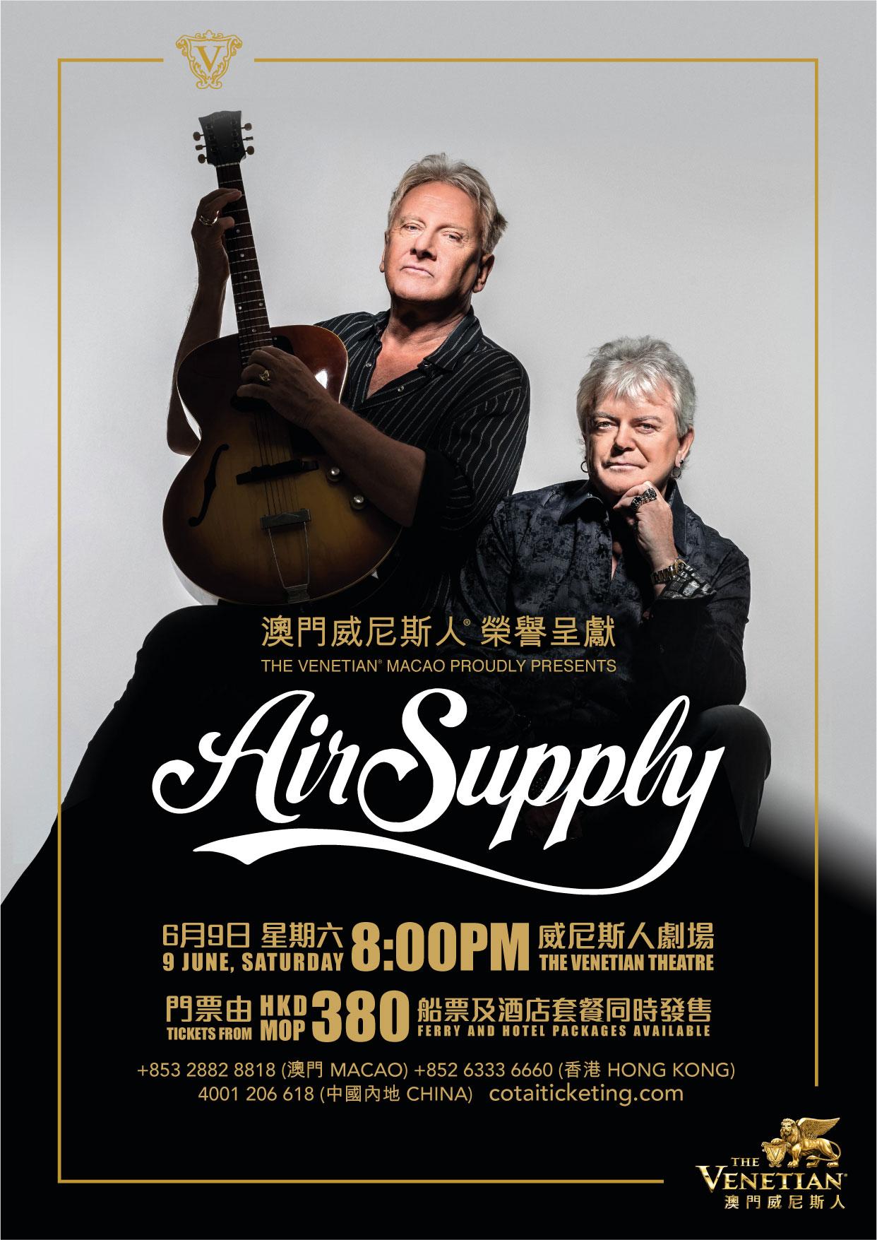 《Air Supply Live in Concert 2018 - Macao》-澳门威尼斯人 威尼斯人剧场