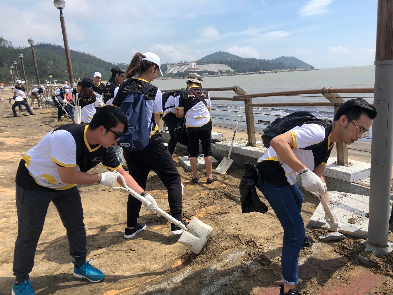 臺風「山竹」襲澳 - 金沙中國關懷大使參與修復