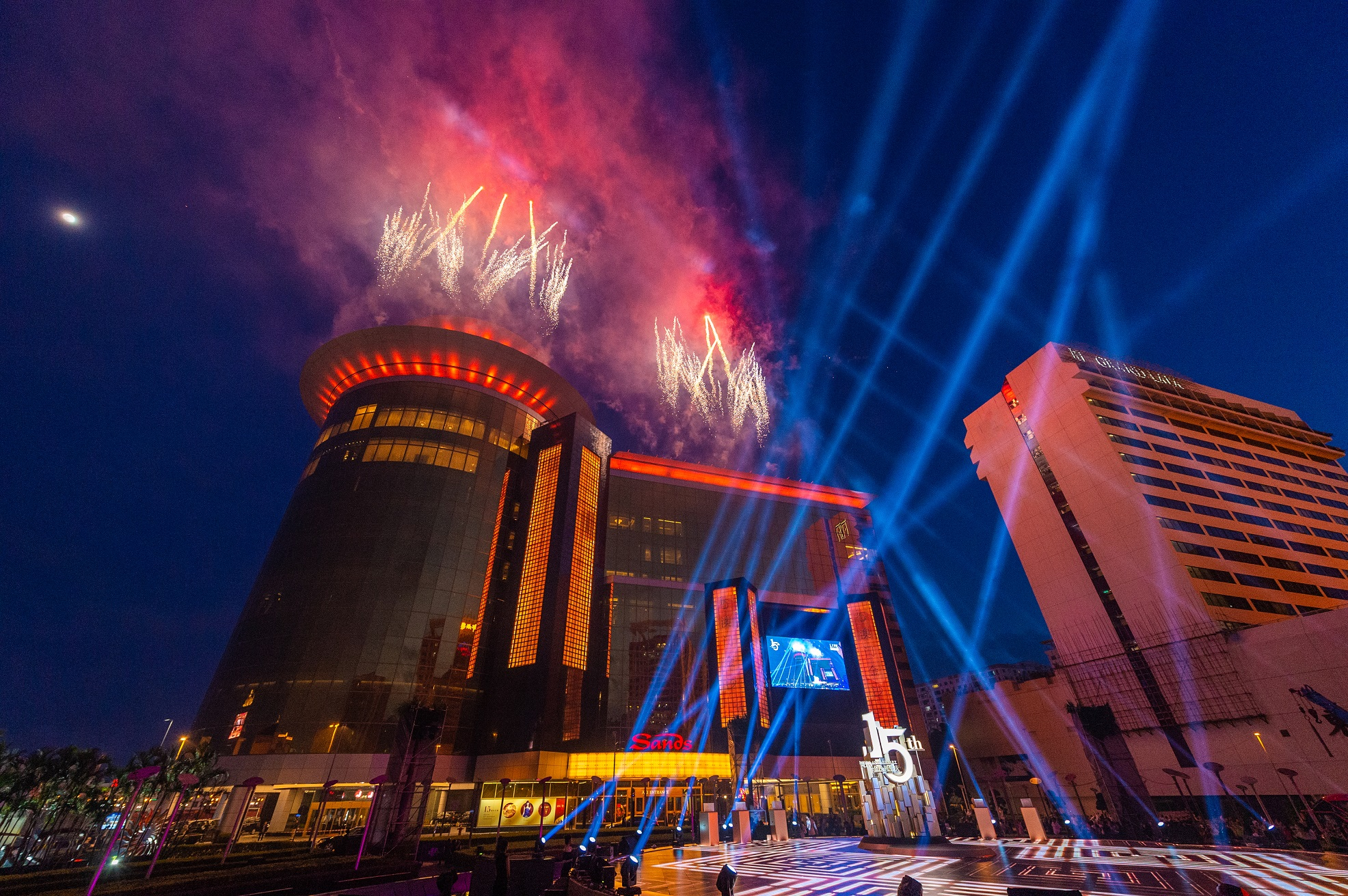 Firework at the 15th anniversary celebration for Sands Macao