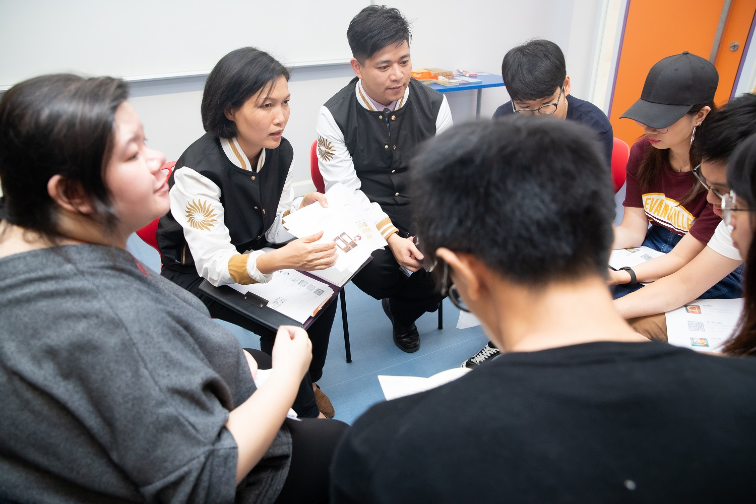Sands China's Responsible Gaming Ambassadors speak with students