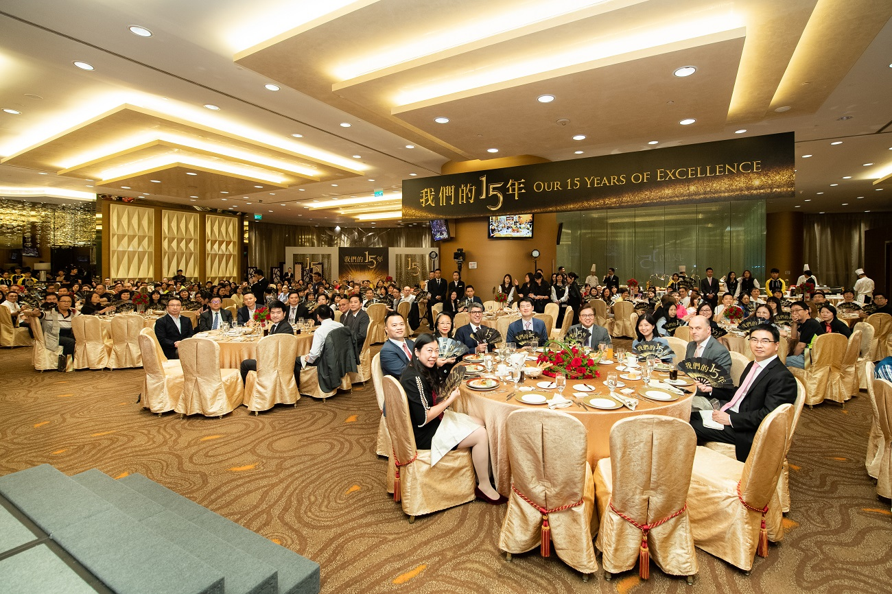 celebrations honouring their 15-year anniversaries with the Sands China