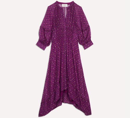 ba&sh purple asymmetric print Dress