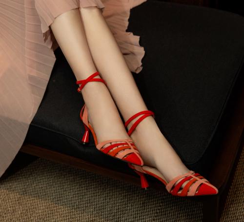 ba&sh red zebra print Blouse
