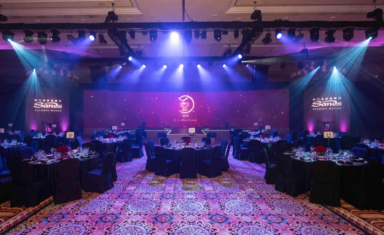 The Venetian Macao's pillar-less ballroom