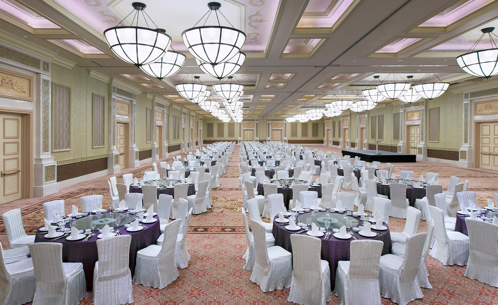 Junior Ballroom, banquet setup