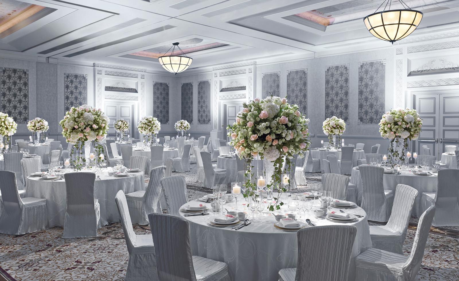Wedding banquet setup